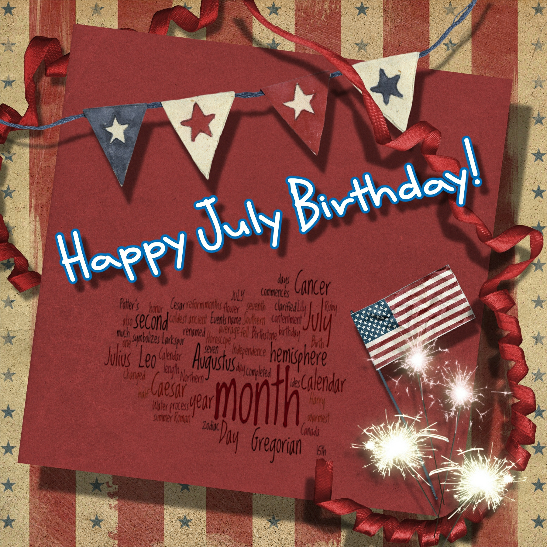 Happy July Birthday  Sandie's Blog. Lease Agreement Template Doc. Letter Of Intent Template. Photo Collage Free Download. Funeral Pamphlet Template Word. Marketing Plan Template Free. Graduate Schools In Texas. Scientific Presentation Powerpoint Template. Make Motion Control Engineer Cover Letter
